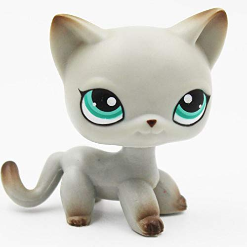 GXYMF LPS CAT Rare Pet Shop Toys Mini Stands Short Hair Kitten Old Figures Collection Original Cute Animal 391