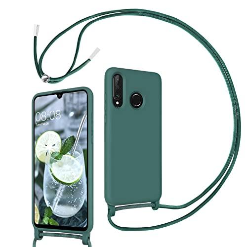 DUEDUE Handykette für Huawei P30 Lite Hülle Huawei P30 Lite New Edition Handyhülle mit Kordel Band Silikon Schutzhülle mit Band Halsband Handy-Kette Hülle mit Necklace Schnur für Huawei P30 Lite