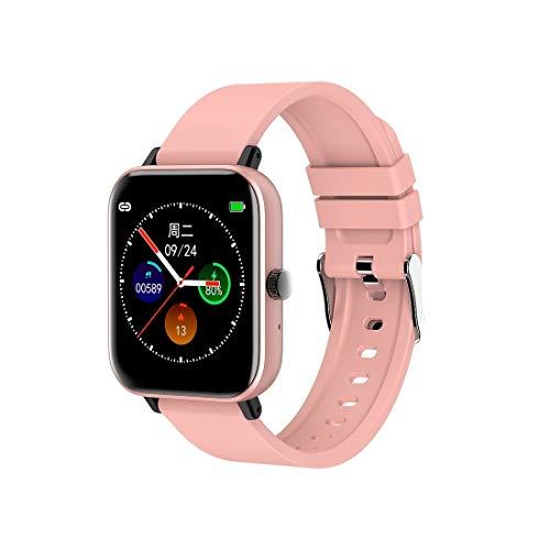 SHDream K8 Smartwatch mit Bluetooth, 3,9 cm (1,55 Zoll) TFT-Touchscreen, IP67 wasserdicht, unterstützt Herzfrequenz-Monitor, Schlaf-Monitor, Immunitätstest, MP3 (schwarz) (Farbe: Pink)