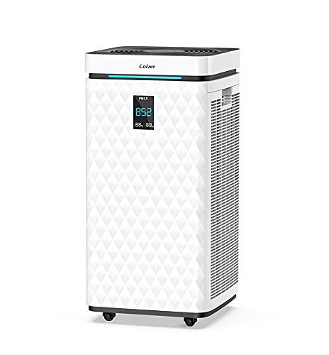 COLZER 3,525 sq ft Wifi Air Purifier for Home Large Room with Dual Drive...