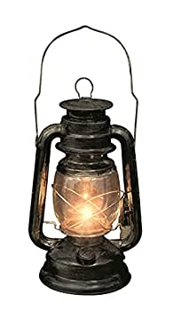 Rustic Old Fashioned Light Up Lantern Metal/Glass