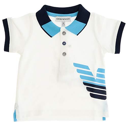 Emporio Armani Luxury Fashion Baby-Boys Polo Shirt Summer White