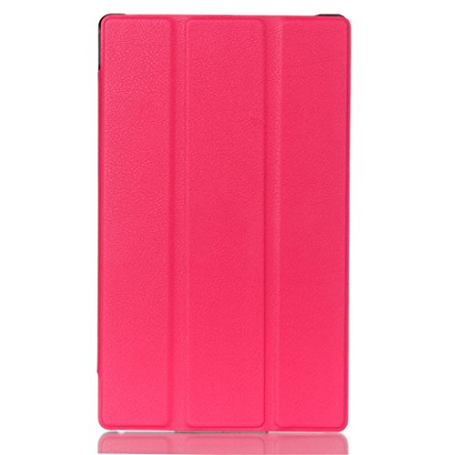 Clode Tablet Case, 1PC Luxury Leather Case Stand Cover For Lenovo Tab3 8-Inch (Hot Pink)