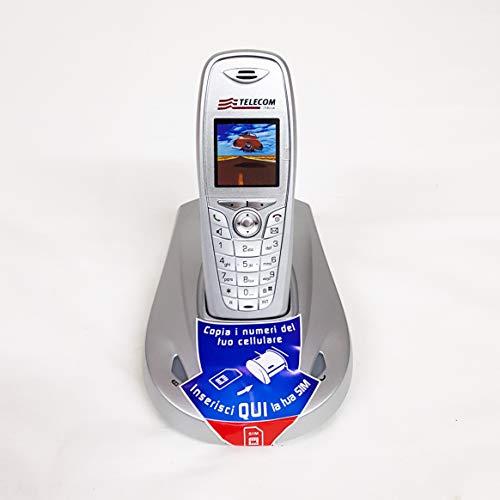 Telefono fisso cordless Aladino 2, telefono domestico da casa con rubrica, vivavoce, sveglia, lettore di schede sim per trasferire contatti (Argento)