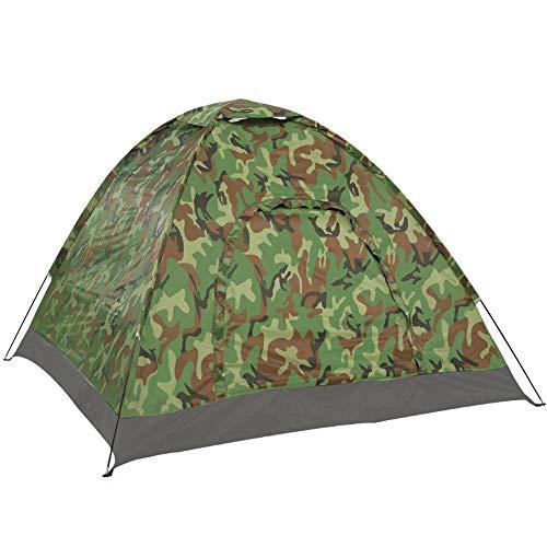 Rahmen Zelte Single Layer Double Deck Tarnzelt 2 Personen Freizeit Zelt Outdoor-Camping-Zelt Ideal für Camping Wandern Außen (Color : Camouflage, Size : 3-4 Persons)