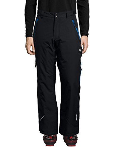Ultrasport Herren Amud Ski-und Snowboard-Funktionshose, schwarz/blau, L