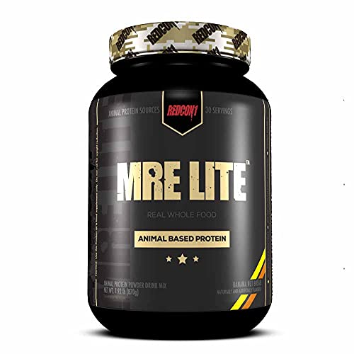 Redcon1 MRE Lite Meal Replacement 30 Serves Protein Powder Keto Low Calorie Carb - Banana Nut Bread
