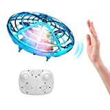ShinePick Mini Drone con Control Remoto, Recargable UFO Drone Movimiento Control Mano Drones Juguetes Voladores con Luz...