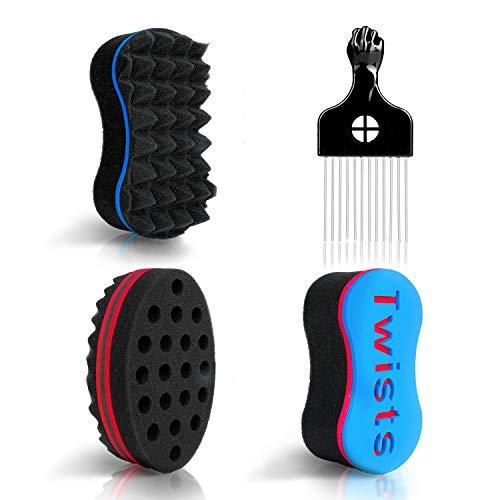 Magic Twist Hair Sponges - LEADUWAY Curling Sponge, Sponge Brush for...