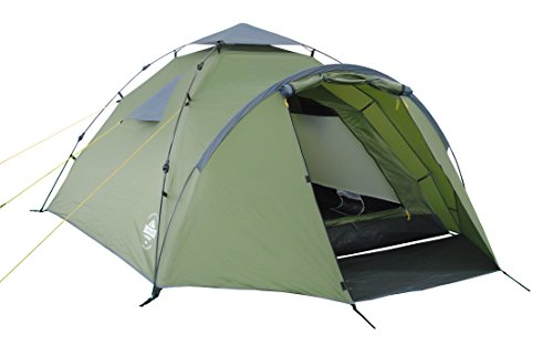 Lumaland Tienda de campaña Familiar Light Pop Up 3 Personas Camping Acampada Festival 220 x 220 x 130 cm Verde
