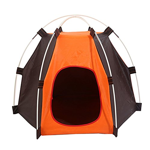 Dontdo waschbar Langlebig Oxford Tuch Sechseck Regendicht Camping Pet Zusammenklappbarer Käfig Hund Katze Haus Zelt Outdoor Wigwam