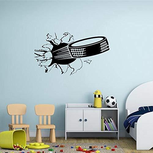sanzangtang Sports ijshockey art decal hockey gescheurd door de muur vinyl sticker