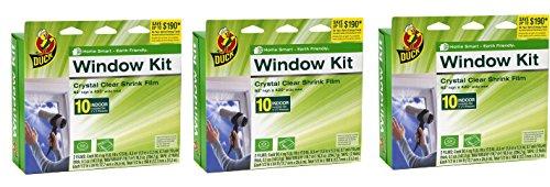 Duck Brand 281506 Indoor 10-Window Shrink Film Insulator Kit, 62-Inch by 420-Inch __3PACK__