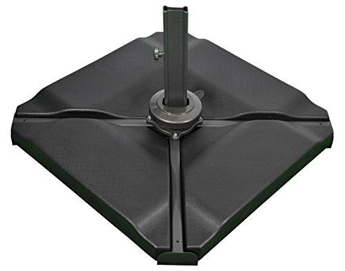SORARA Azulejos Soporte Bases para sombrilla, Negro, Cuatro Piezas 4, 80kg