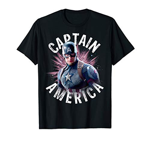 Avengers Endgame Captain America Space Poster Graphic Tee