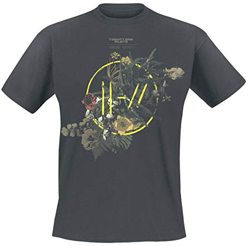 Twenty One Pilots Bouquet Uomo T-Shirt Cenere M 100% Cotone Regular