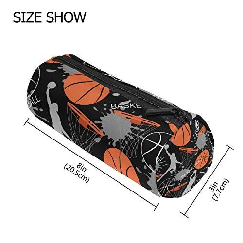 Vinlin Federmäppchen Basketball Muster Tragbare Stifthalter Tasche Multifunktions Tasche Stift Reißverschluss Tasche Geldbörse für Schule Büro