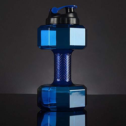 Flasche Hantelflasche/Outdoor Fitness Große übergroße Plastikflasche/Sportflasche/Große Kapazität 2L Farbe: Blau