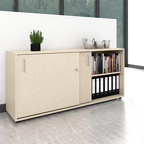 Schiebetürenschrank Sideboard NOVA 2OH 1.640 x 740 mm Ahorn