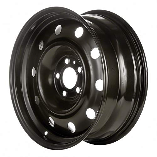 Multiple Manufactures STL02240U45 Black Wheel with Painted and Meets All Federal Motor Safety Standards (17 x 7. inches /5 x 115 mm, 0 mm Offset)