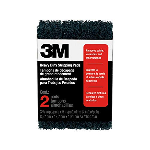 3M Heavy Duty Stripping Pads, 3.375-Inch by 5-Inch by...
