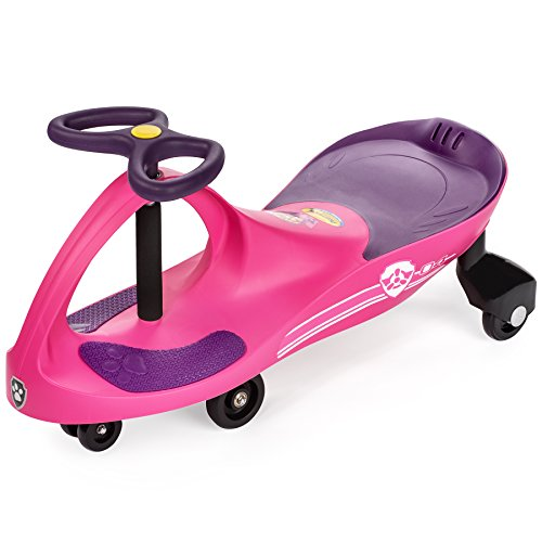 PAW Patrol - The Original PlasmaCar by PlaSmart Inc. - Skye – Pink, Ride On Toy, Ages 3 yrs and up, No batteries, gears, or pedals, Twist, turn, wiggle for endless fun