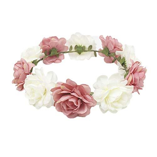 Pulabo - Corona de boda para el pelo, accesorio para el pelo, cómodo y respetuoso con el medio ambiente, práctico y duradero