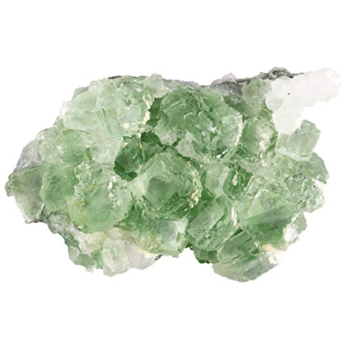 mookaitedecor Natural Raw Green Fluorite Crystal Cluster Geode Stone Mineral Specimen Gemstone for Reiki Healing Home Decoration(0.22-0.44 lb)
