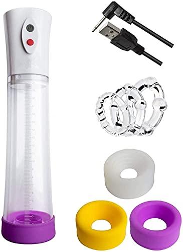 Penispumpe, Vakuumpumpe, Elektrisches Geschlechtsspielzeug, Peniserektion, Mit 3 * Unterschiedlichen Farbe Versiegelt Silikonringen + 3 Penis-Ringen, Elektrische Penis-Vergrößerer, T-Shirt