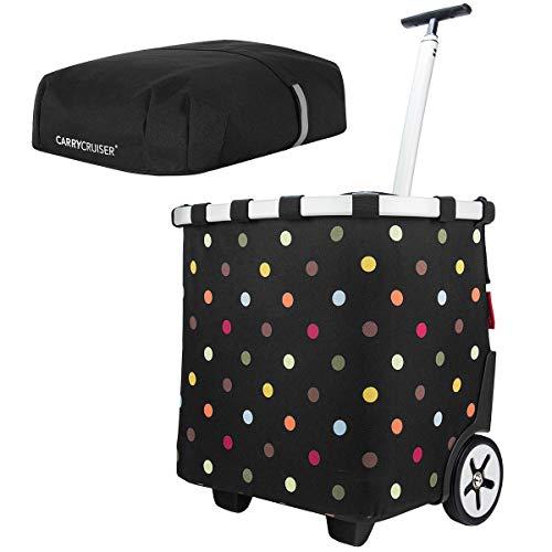 reisenthel - EXKLUSIVES ANGEBOT! carrycruiser + GRATIS cover! Einkaufskorb Einkaufstasche Einkaufstrolley (dots)