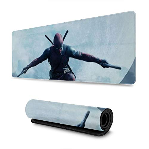 Dead_Pool Minima Moon Gaming Mouse Pad Large Custom Mousepad Pads for Laptop Computer,12x31.5 Inch Desk Cover Computers Keyboard Stitched Edges Office Ideal Mouse Mat