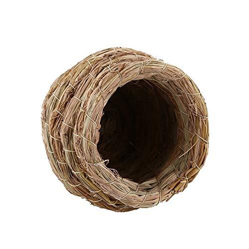 HCHC Natural Pigeon Bird House Pet Bedroom Parrot Pet Supplies Straw Cage Bird Nest Breeding Cave Straw Nest