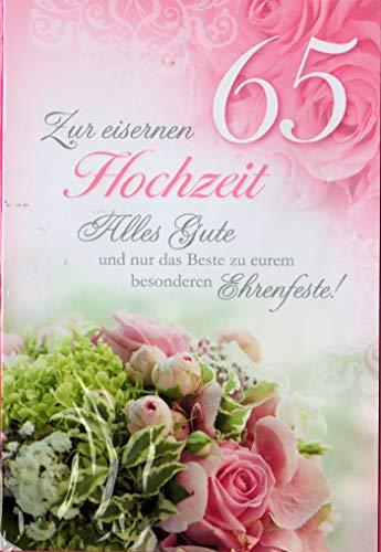 Glückwunschkarte zur eisernen Hochzeit