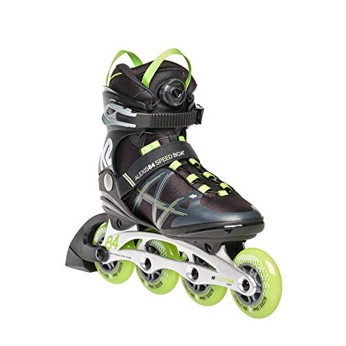 K2 Skates Damen Inline Skate Alexis 84 Speed Boa — Brown - Grey - Green — EU: 39.5 (UK: 6 / US: 8.5) — 30E0373