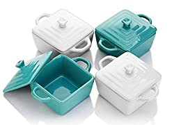 individual dipping bowls or casserole dishes