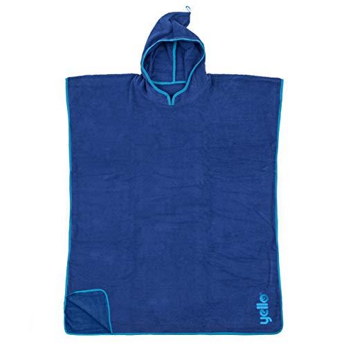Yello Towel Poncho, Unisex Adulto, Azul, Talla única