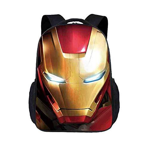 Light-AL Iron Man Children's School Backpack Teens Rucksack for Boys and Girls School Bags 7-14 Years Old,Iron Man(Ridge Protection)