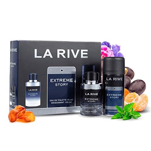 La Rive for Men Extreme Story Geschenkset EDT 75 ml + Deo Spray 150 ml Herren