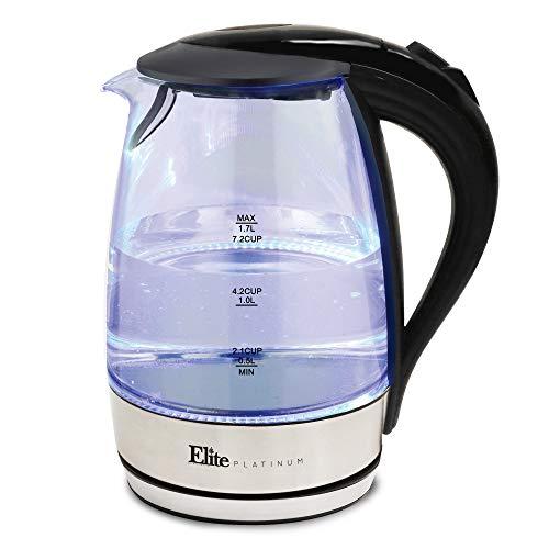 Elite Platinum EKT 200X by Maxi-Matic – Hervidor de agua inalámbrico con iluminación LED interior, 1,7…