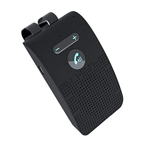ATIN Kit de altavoz inalámbrico Bluetooth manos libres para coche con visera solar + cargador