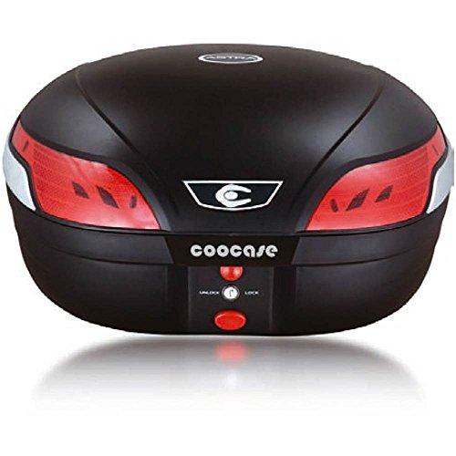 COOC 549049Top Case Astra Luxury S48L Buch mit Platin mit Fernbedienung Alarm Feuer Stop LED, schwarz