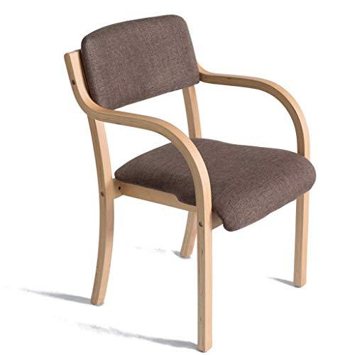 Holzsessel mit Rückenlehne und Armlehne, der für den Desk Dining Makeup Learning Chair verwendet Werden kann