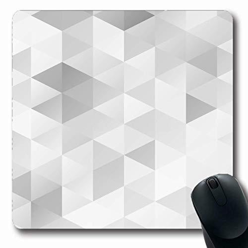 Mauspad Grauweiße Gitterelemente Mosaik Poly Repeat Creative Block Geometrische Vorlagen Abstrakte Texturen Mousepad Office Mausmatte Spiele Gummi 25X30Cm Laptop Computerarbeit Ge