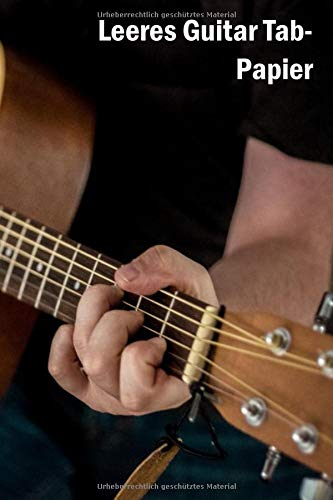 Leeres Guitar Tab-Papier