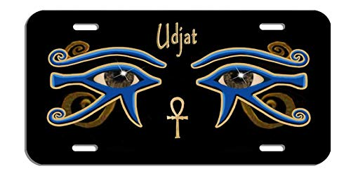 Yilooom Egyptian Double Eyes of Ra Udjat Auto License Plate Personalize Gifts 6 X 12 Inch