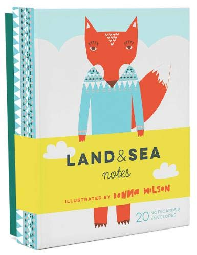 Land & Sea Notes (Blank Interior Greeting Cards, Donna Wilson Art Stationery Gift Set)
