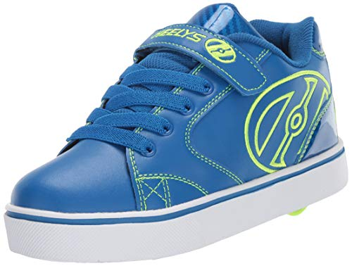 Heelys Boys' Vopel X2 Tennis Shoe, Blue/Bright Yellow, 4 M US Little Kid