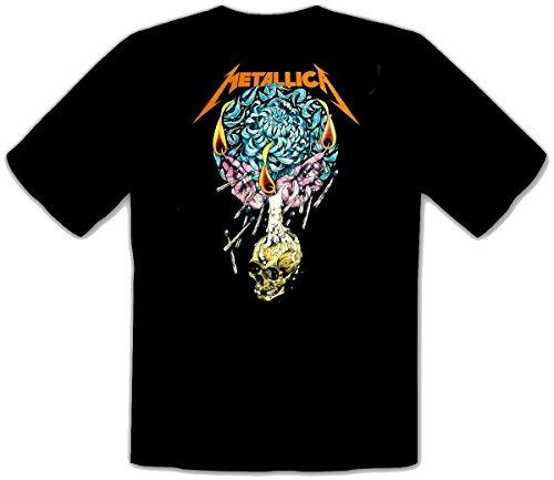 Metallica - Frantic Logo 2 Schwarze Kinder T-Shirt Schwarz -Kids278 (9-11 (140 cm))