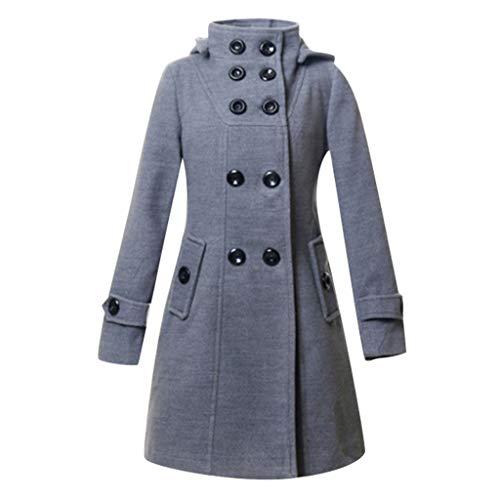 QinMM Snowmass Winterjacke Damen, Damenmode Mit Kapuze Herbst Winter Warm Langarm Faux Button Jacken MäNtel Warm