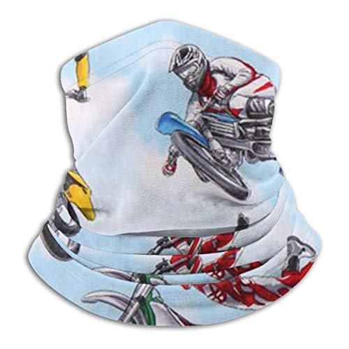 Polaina de calentador de cuello deportivo de moto azul Motocross, funda de máscara de esquí Polar Fleece para invierno y clima frío